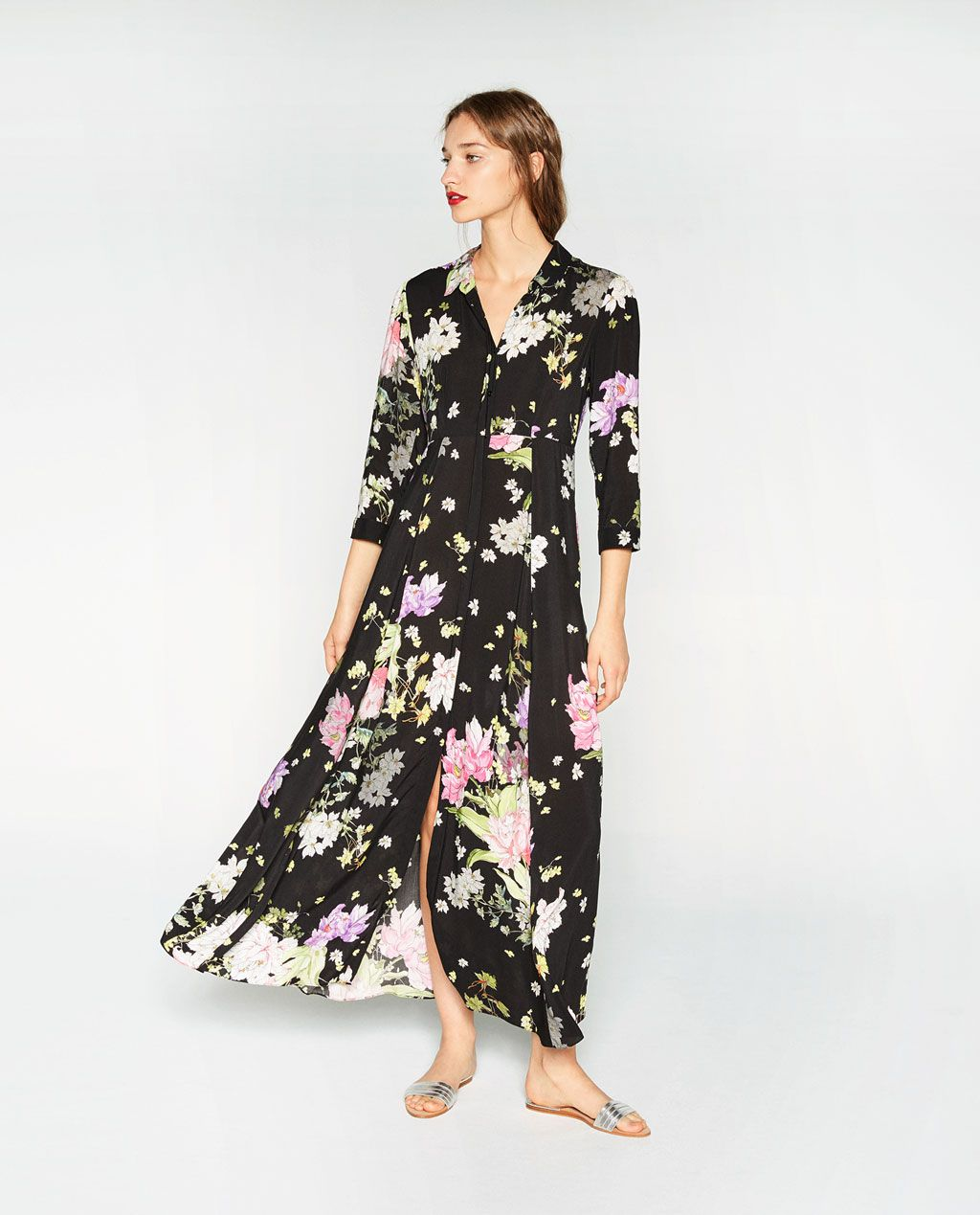 image 1 de robe imprim e fleurs de zara robiches pinterest robes imprim es zara et robes. Black Bedroom Furniture Sets. Home Design Ideas