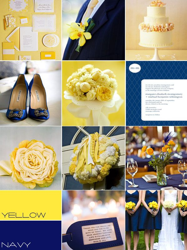 Navy Yellow Wedding Colors Palettenavy Yellow Summer Wedding Navy