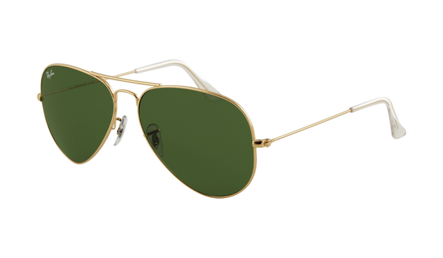 ray ban green glass  ray ban rb3025 aviator sunglasses gold frame crystal green lens you are buying the very best quality.