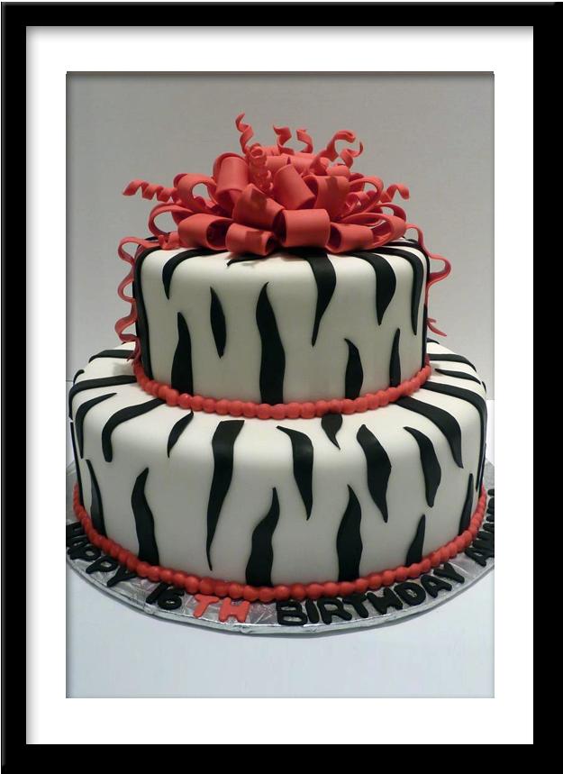 Coffee and Cakes Zebra Birthday Cake WICKED CAKES Pinterest