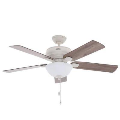 hunter matheston 52 in indoor outdoor cottage white ceiling fan rh pinterest com
