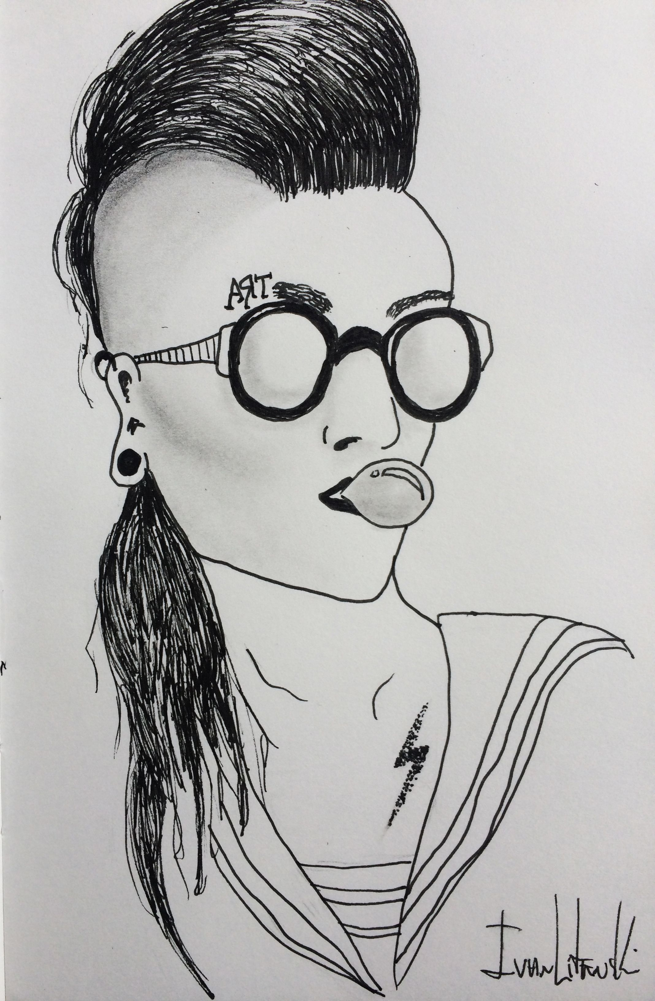 draw illustration sketch sketchbook pen nankin boy men