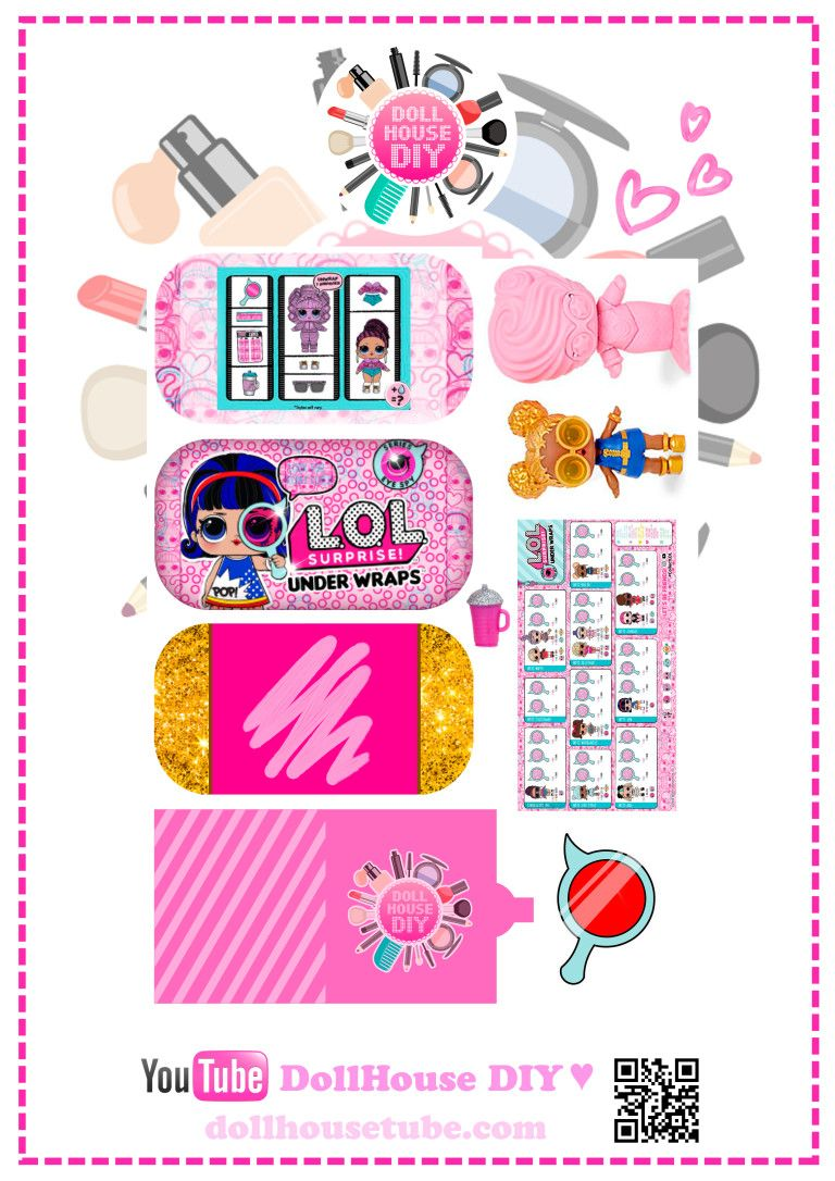 2D LOL UNDER WRAPS | Printables | Diy dollhouse, Dolls, Diy doll