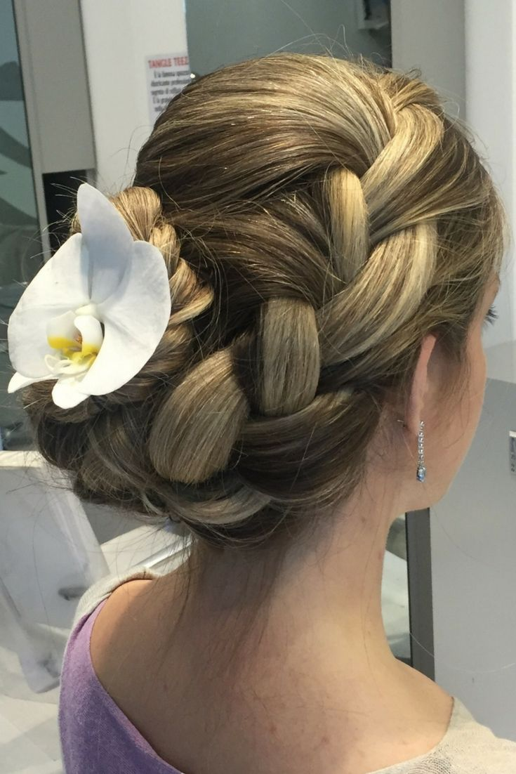 Bridal hairstyle braid updo. Bridal hairstyle for long ...