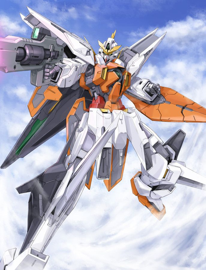 The GN-003 Gundam Kyrios (aka Gundam Kyrios, Kyrios) is a third generation gundam featured in season one of Mobile Suit Gundam 00. The unit is piloted by Allelujah Haptism.