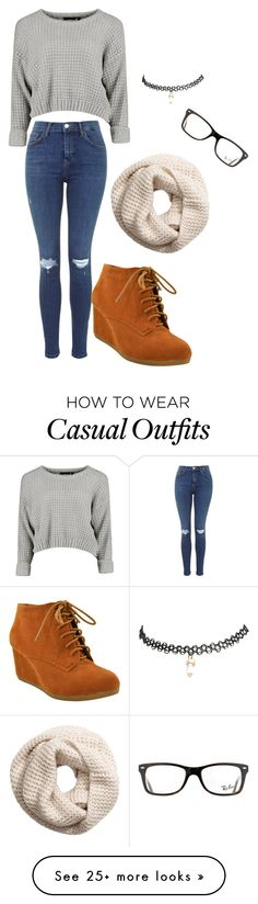 """""""casual outfit"""" by craycrayiyana on Polyvore featuring H&M, Wet Seal and Ray-Ban"""