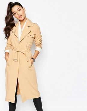Missguided Military Trench Coat