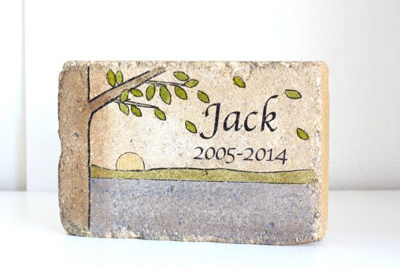 Memorial Stone. PERSONALIZED Memorial Gift. by blessingandlight