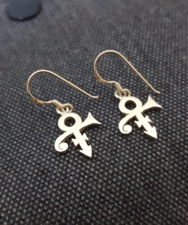 Hood Earring Love Remembrance Symbol Sterling Silver