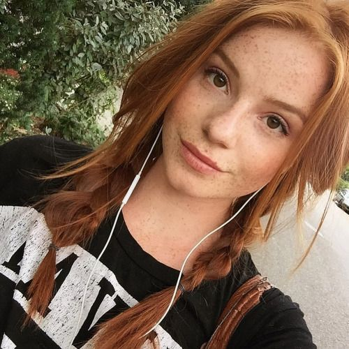 Redhead pigtails young teen girl