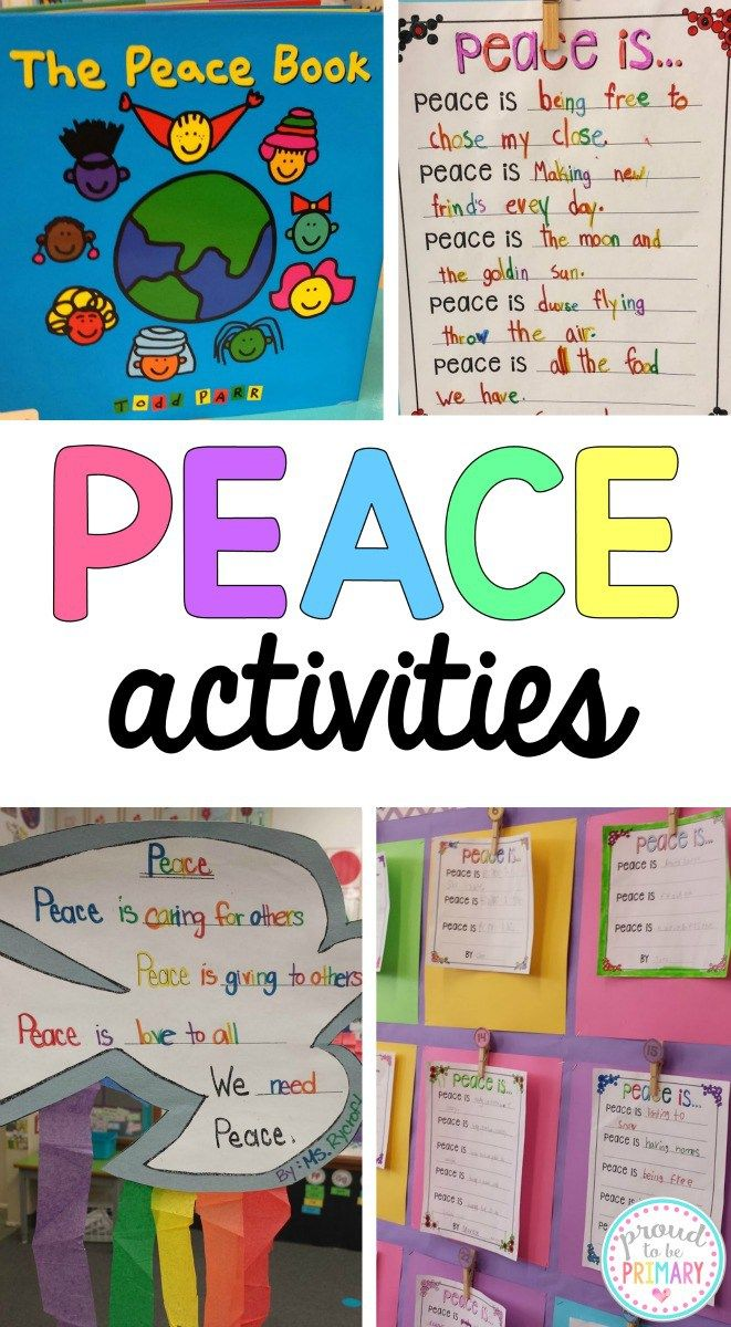 Dove Peace Foldable Writing Craft | Peace, Activities and School