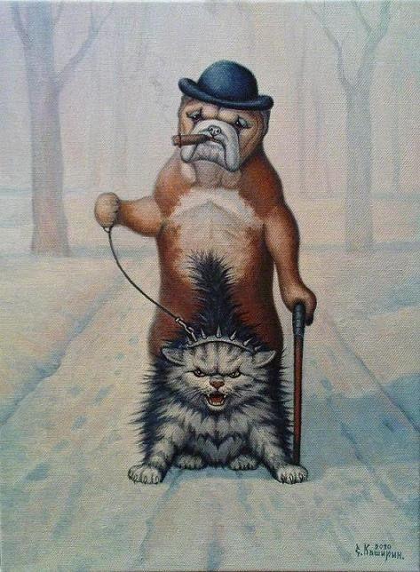 Чтоб мы так жили... Прикольные коты Степана Каширина . Обсуждение на LiveInternet - Российский Сервис Онлайн-Дневников