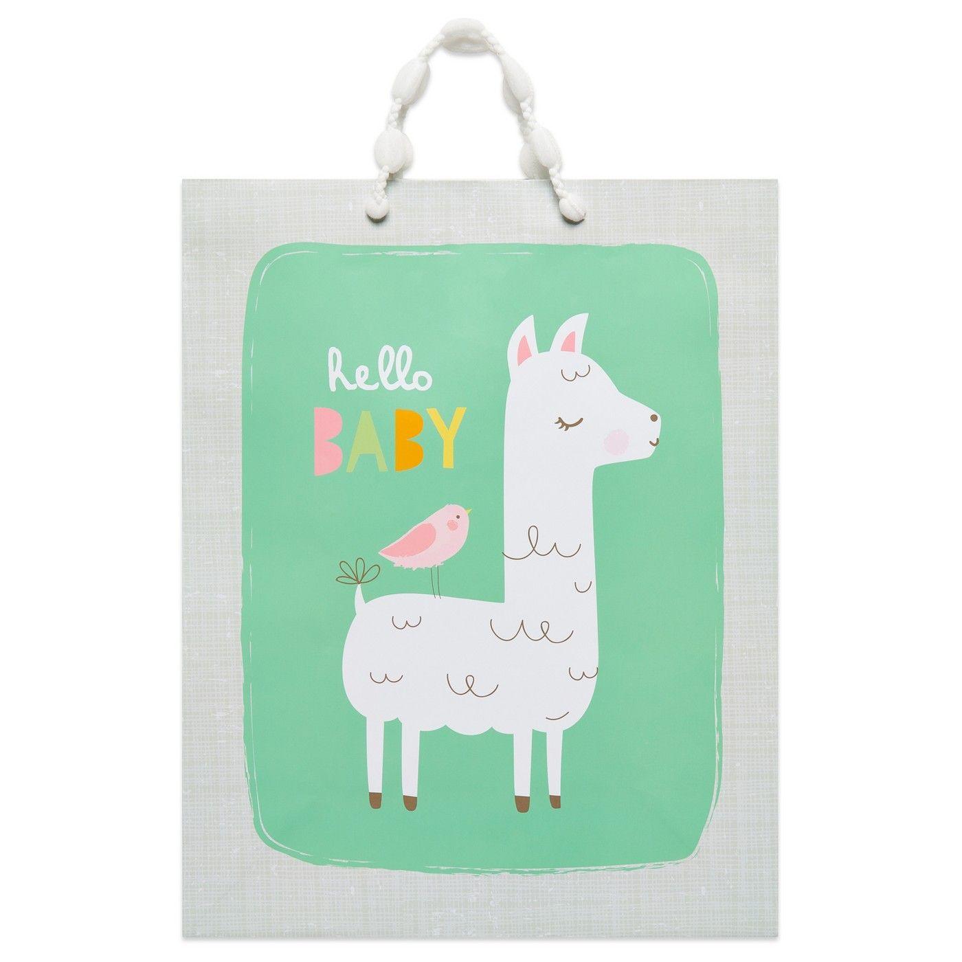 Large hello baby llama gift bag spritz llama gifts