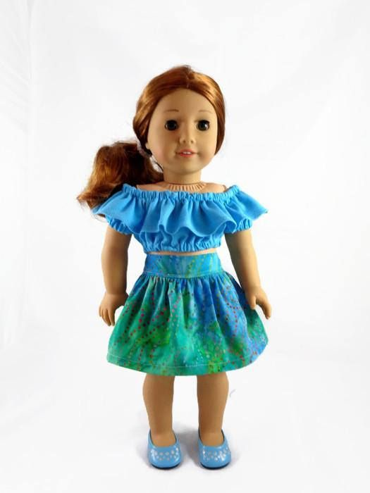 18 inch Doll Clothes, Peasant top and skirt designed to fit like ...