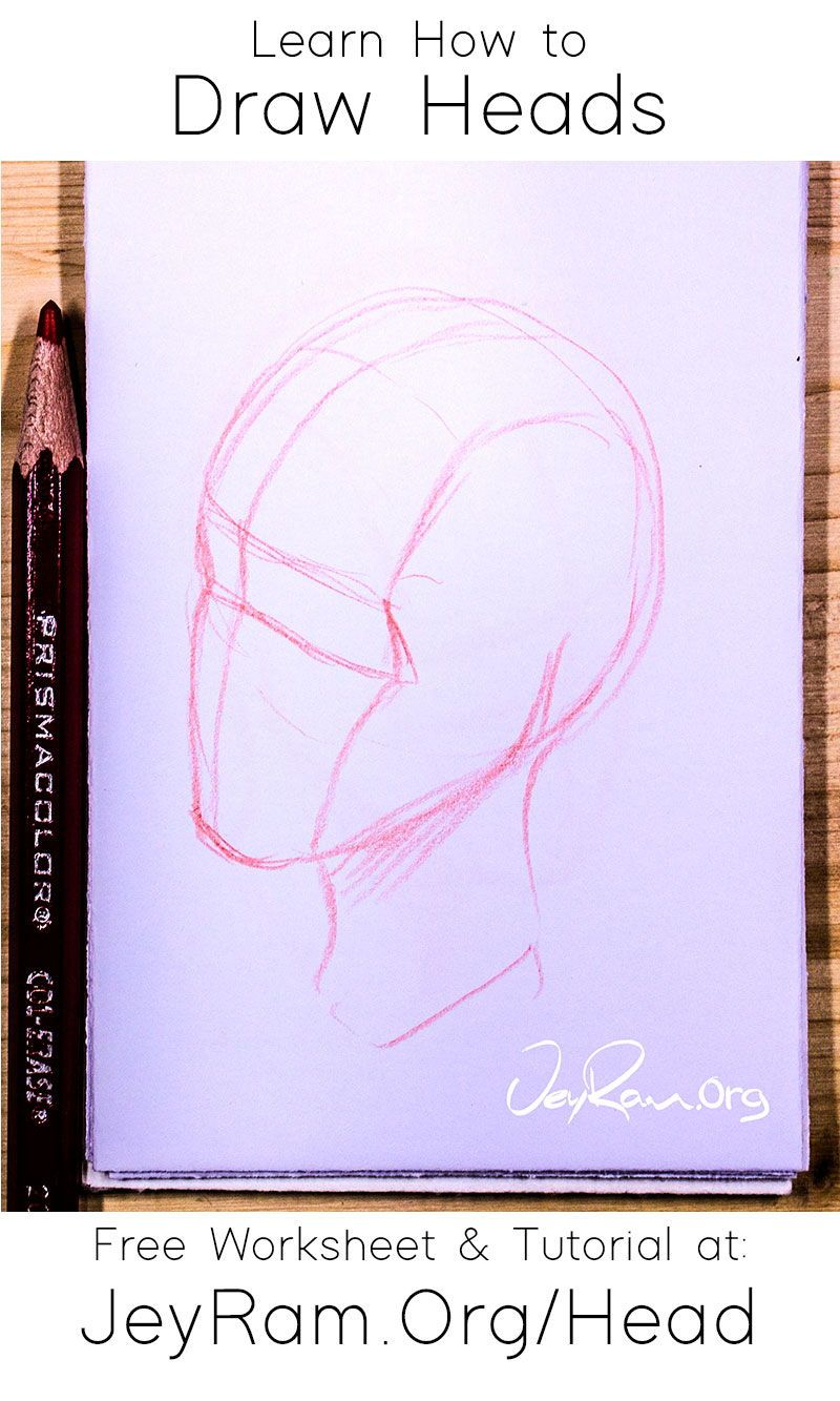 How To Draw The Head From Any Angle Free Worksheet Video Tutorial In 2020 Body Drawing Tutorial Easy Drawings Art Drawings Sketches Simple