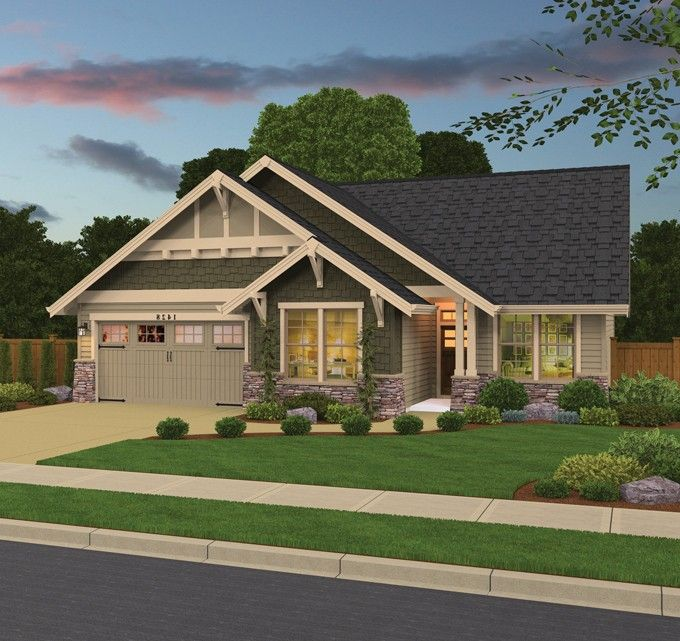 Country Style House Plan 3 Beds 2 Baths 1428 Sq Ft Plan 943 39 Country Style House Plans Craftsman House Plans House Plans