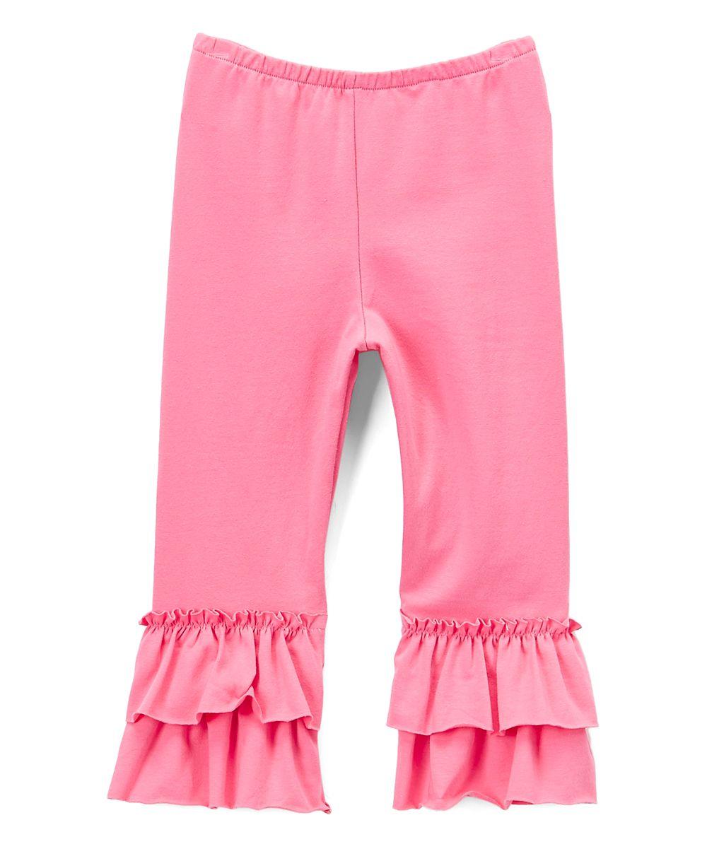 20eefc5d4a8ac Rose Double-Ruffle Capri Pants - Toddler   Girls