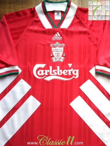 Relive Liverpool's 1993/1994 season with this vintage Adidas home football shirt.