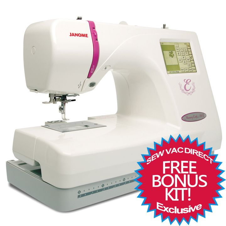Janome Memory Craft 350e Embroidery Machine With Exclusive Bonus