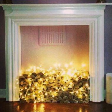 Empty Fireplace Ideas non- working fireplace idea | living room inspiration | pinterest
