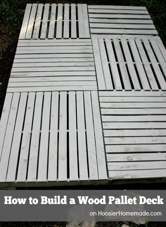 This DIY Deck Is So Affordable Anyone Can Build It is part of Pallet decking, Pallet deck diy, Pallet floors, Wood pallets, Pallet patio decks, Pallet patio - If you've been dreaming of a beautiful wooden deck for your yard but the cost of this pricey home addition is more like a nightmare, then we have the perfect