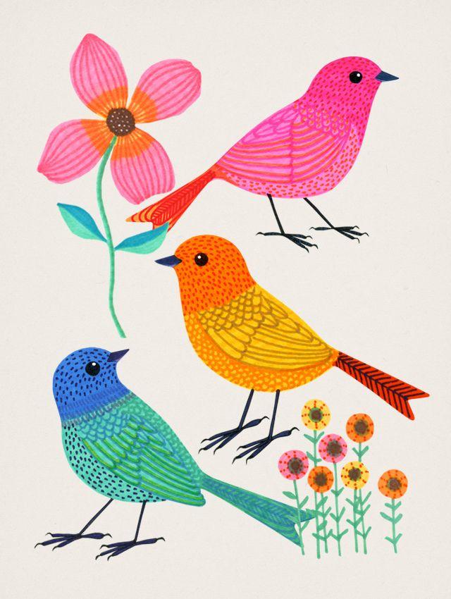 Volar Con Colores Arte Sharpie Blog De Arte Pinturas De Passaros