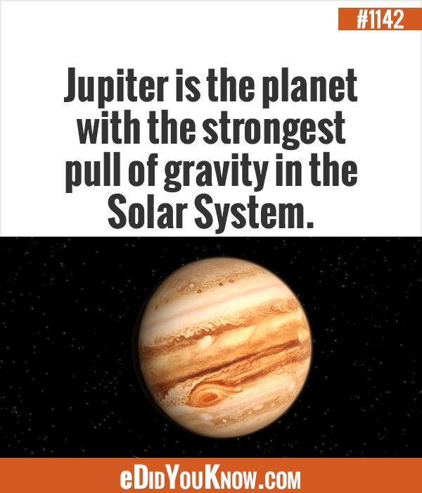eDidYouKnow.com Jupiter is the planet with the strongest ...