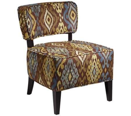 Adana Falls Cypress Ikat Armless Club Chair   55DowningStreet.com