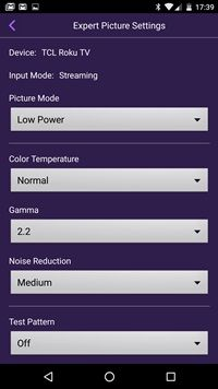 Roku contrast and picture adjustment through the Roku App | Cut the