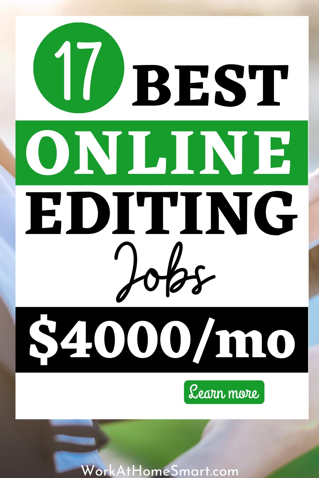 17 Online Editing Jobs 2020 The Best Freelance Editing Jobs Editing Jobs Online Editing Jobs Freelance Editing Jobs