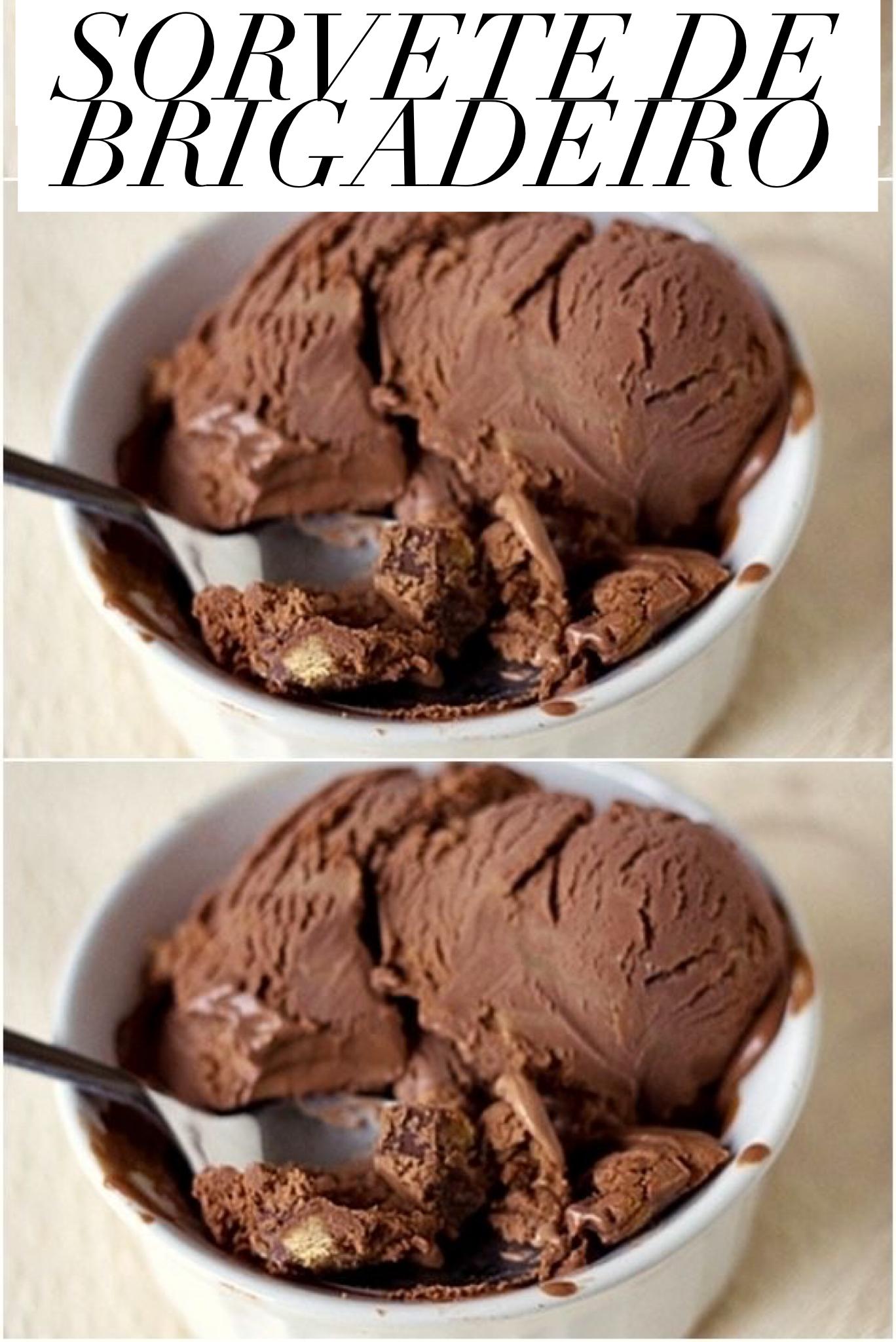 A receita é versátil, fácil de preparar, os ingredientes utilizados são simples e cabem no seu orçamento. Depois de pronto, esse doce com certeza vai surpreender. #sorvete #sorvetecaseiro #chocolate #brigadeiro #receitas #receitadodia