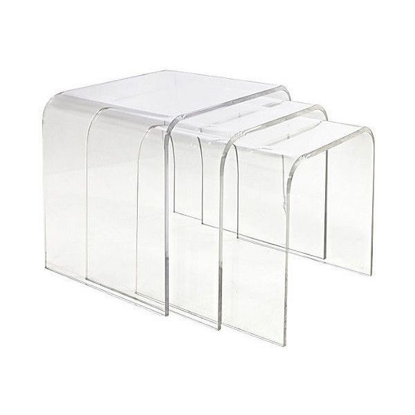 Good Waterfall Nesting Tables Set Of 3 Acrylic / Lucite Nesting Tables ($765) ❤  Liked