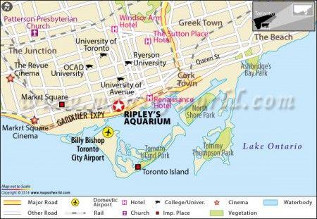 Ripleys Aquarium Toronto Canada Aquariums Toronto and Location map
