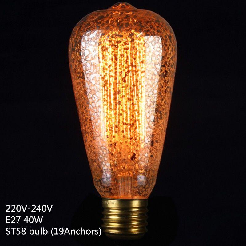 E27 40W Vintage Retro Filament Edison Tungsten Light Bulb Antique Style L& LED  sc 1 st  Pinterest & E27 40W Vintage Retro Filament Edison Tungsten Light Bulb Antique ... azcodes.com
