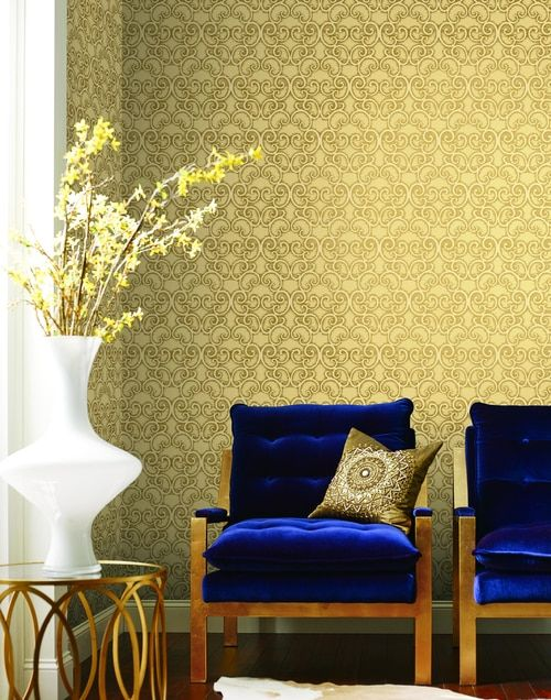 Pleasant York Wallcoverings Bd44304 Mixed Metals Shadow Scroll Short Links Chair Design For Home Short Linksinfo