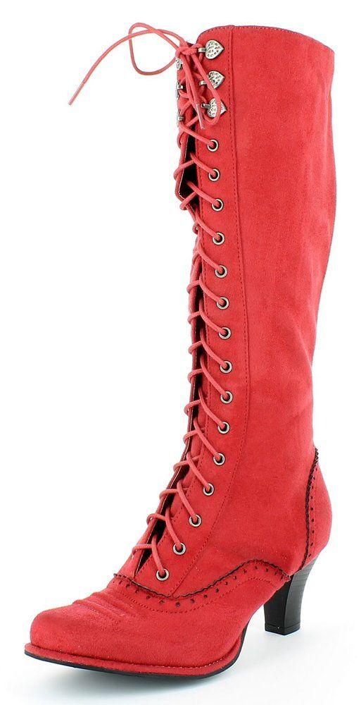 check out 0d439 55791 Trachten Stiefel Kathleen mit Schnürung - Schöne Schuhe für ...