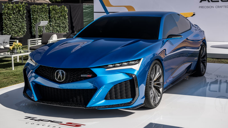 Acura Type S Concept Looks Even Better In The Monterey Sun Acura Acura Tlx Type S