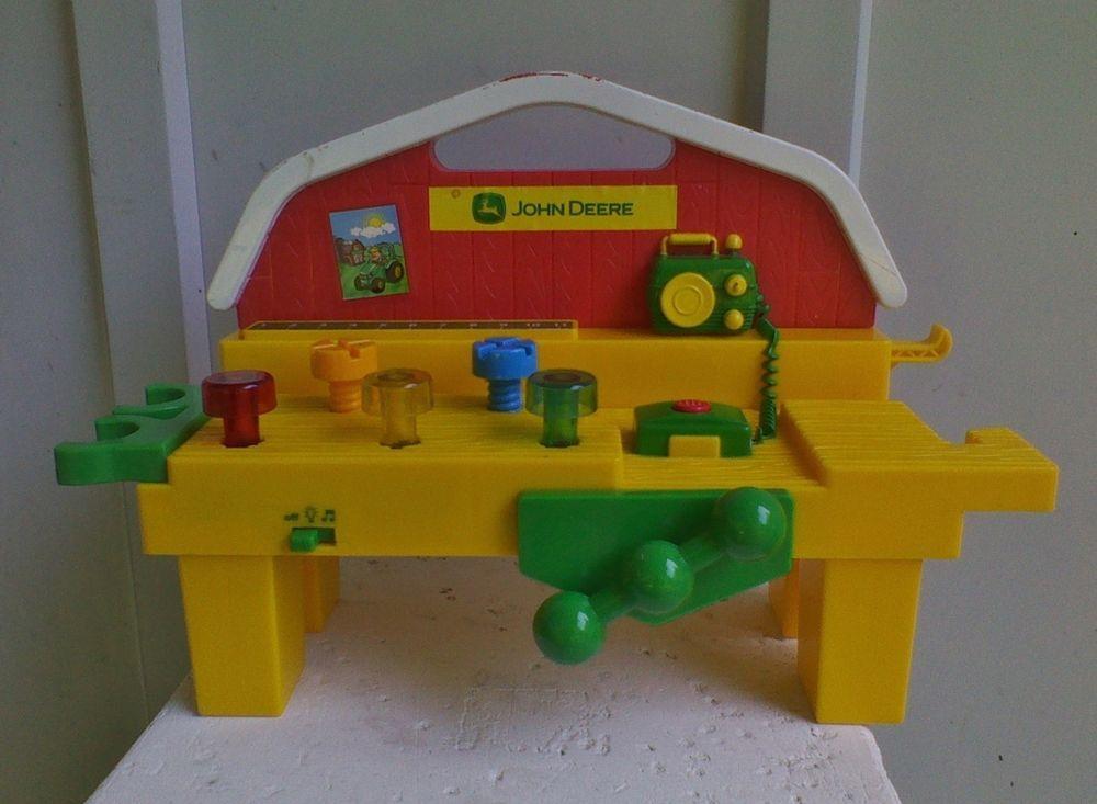 John Deere Cafe Table : John deere old mcdonalds farm work bench toy talking music