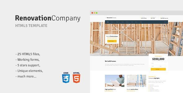 Renovation Company - Construction and Building HTML5 Template - construction form templates