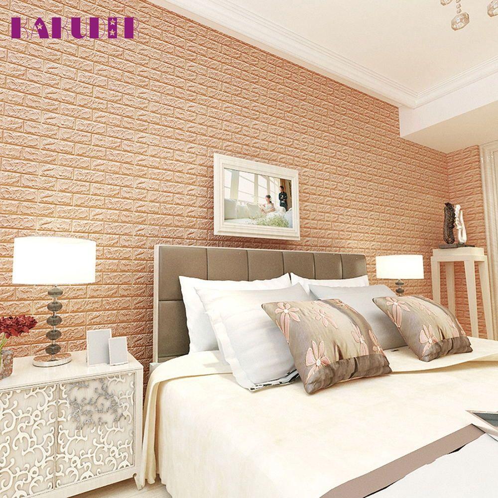 KAKUDER PE Foam 3D Wallpaper DIY Wall