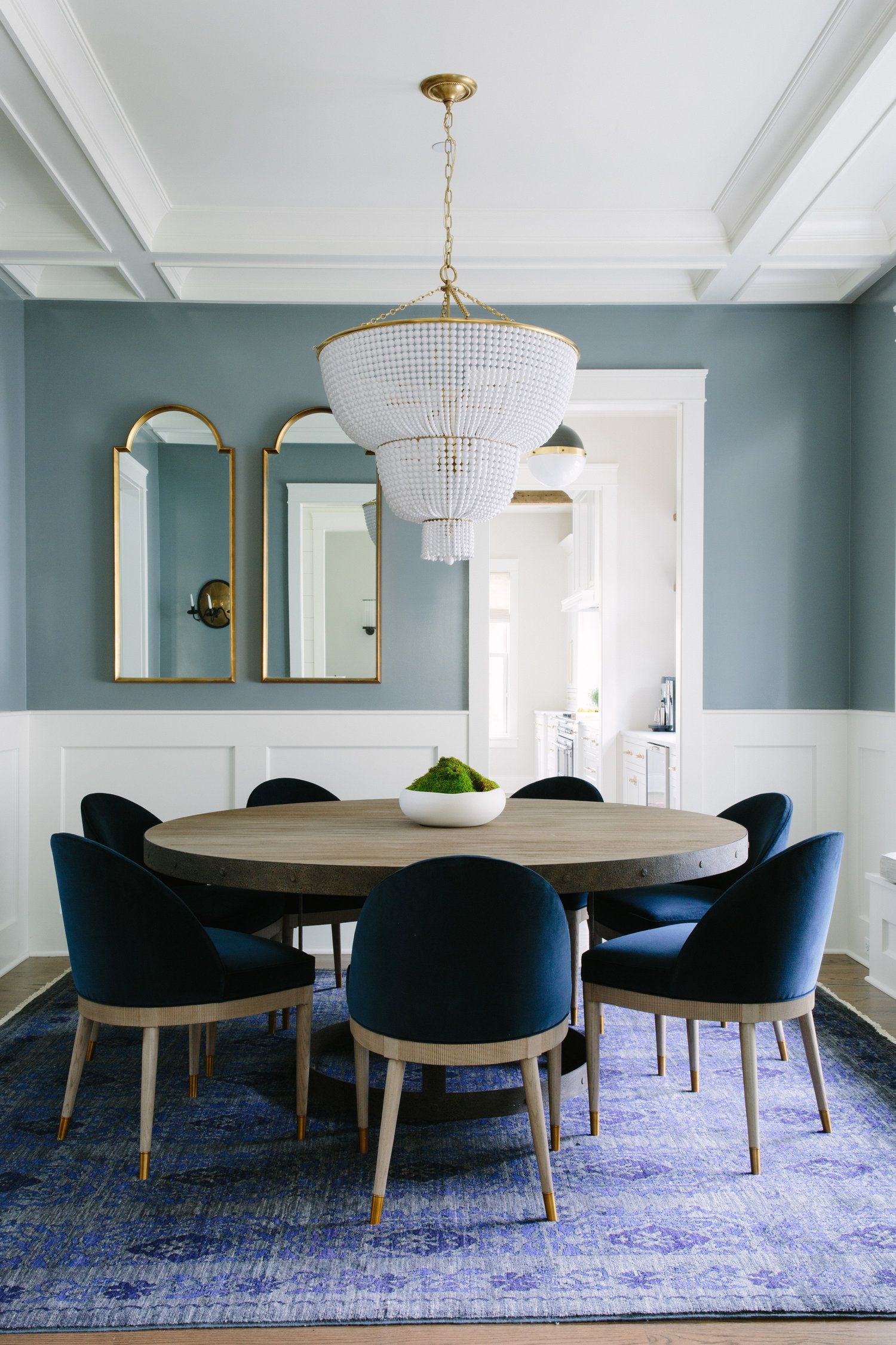 dusty blue dining room in 2019 | Dining room paint, Dining ...