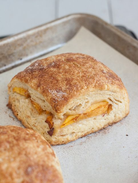 Peach Cobbler Scones | Breakfast | Pinterest | Peach ...