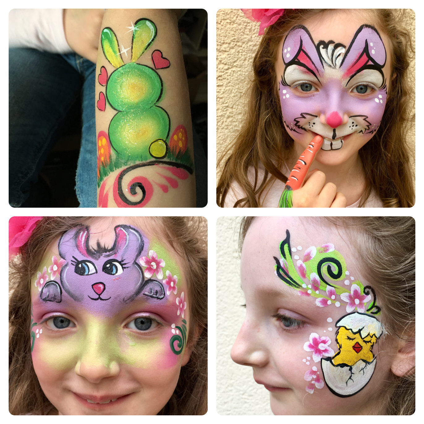Pin By Esther On Easter Face Painting Face Painting Easter Face Paint Bunny Face Paint