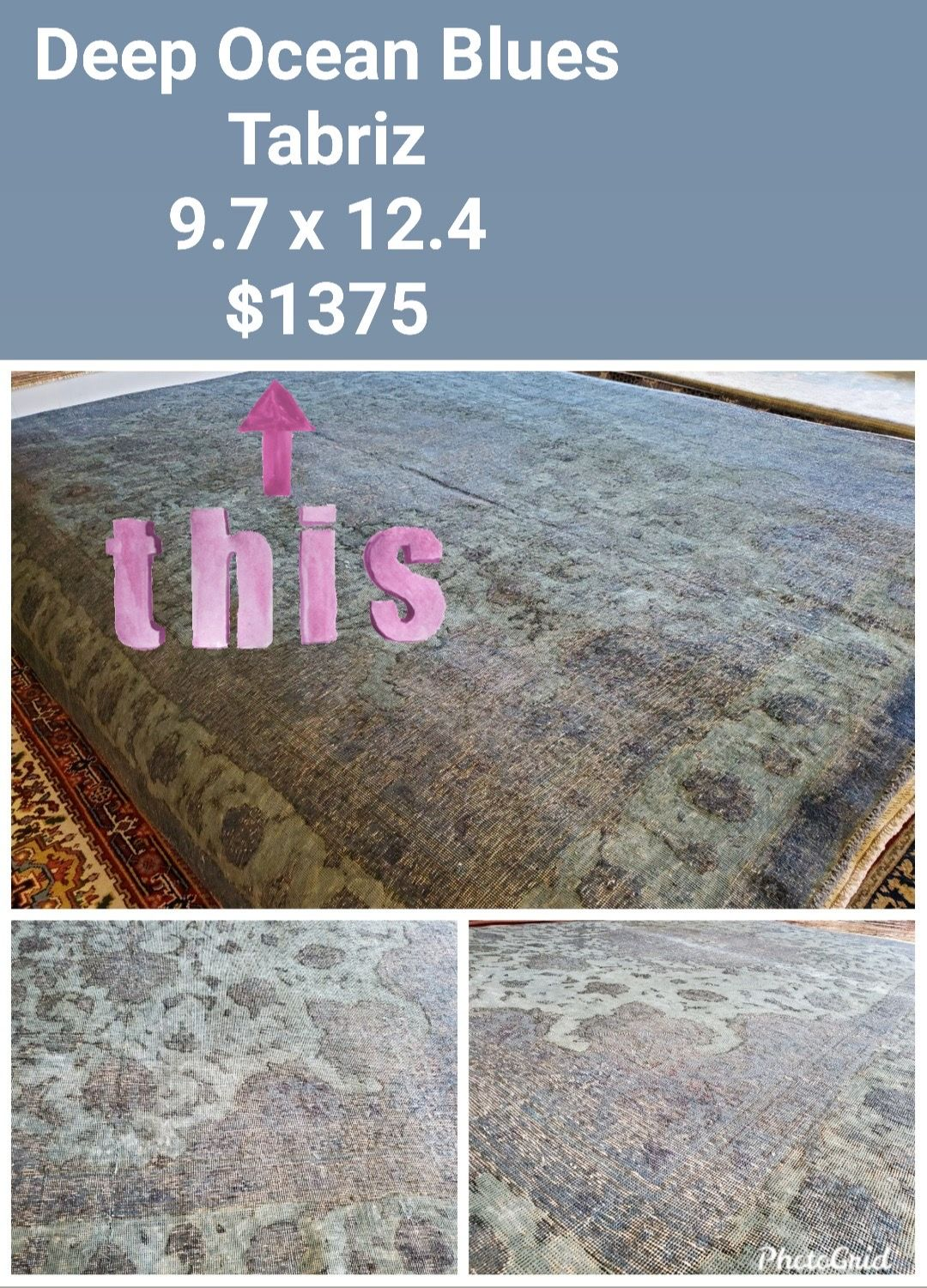 Traditional with a modern/transitional twist! Just in and a steal at $1375!  #nilipourorientalrugs #SpecialSavings #familybusiness #since1972 #fullservice #shoplocal #happycustomer #artyoucantreadon #orientalrug #rug #arearug #naturalfibers #wholesaleprices #directimporting #affordableluxury #functionalrug #practicalrug #appeal #qualityrug #investment #conversationpiece #Lifestyle #rugcleaning #orientalrugcleaning #arearugcleaning