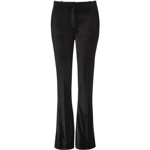 Per Una Speziale Cotton Rich Velvet Wide Leg Trouser ($85) ❤ liked on Polyvore featuring black and per una
