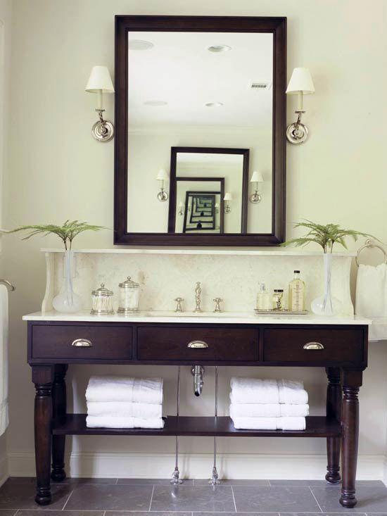 Furniture-Style Open Vanity