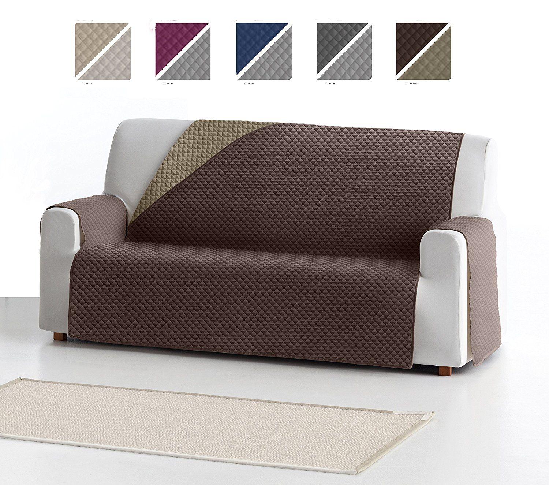 Funda Cubre Sofa Adele 3 Plazas Protector Para Sofas Acolchado