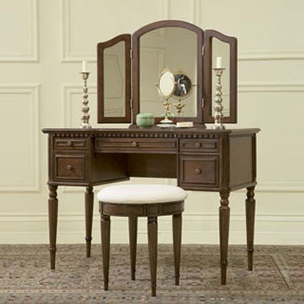 Oh! Home Bordeaux Warm Cherry Vanity, Mirror and Bench My bathroom