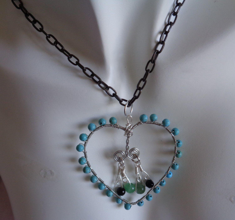 #pendantnecklace #turquoisependant #wrappedwirenecklace #blackonyx #amazonite #blackchainnecklace #turquoisenecklace #lanesamarie #fashionjewelry #heartpendant #silverheartpendant #beadednecklace #etsystore #etsyseller #etsyfind #giftforyou #giftforher #buyitnow