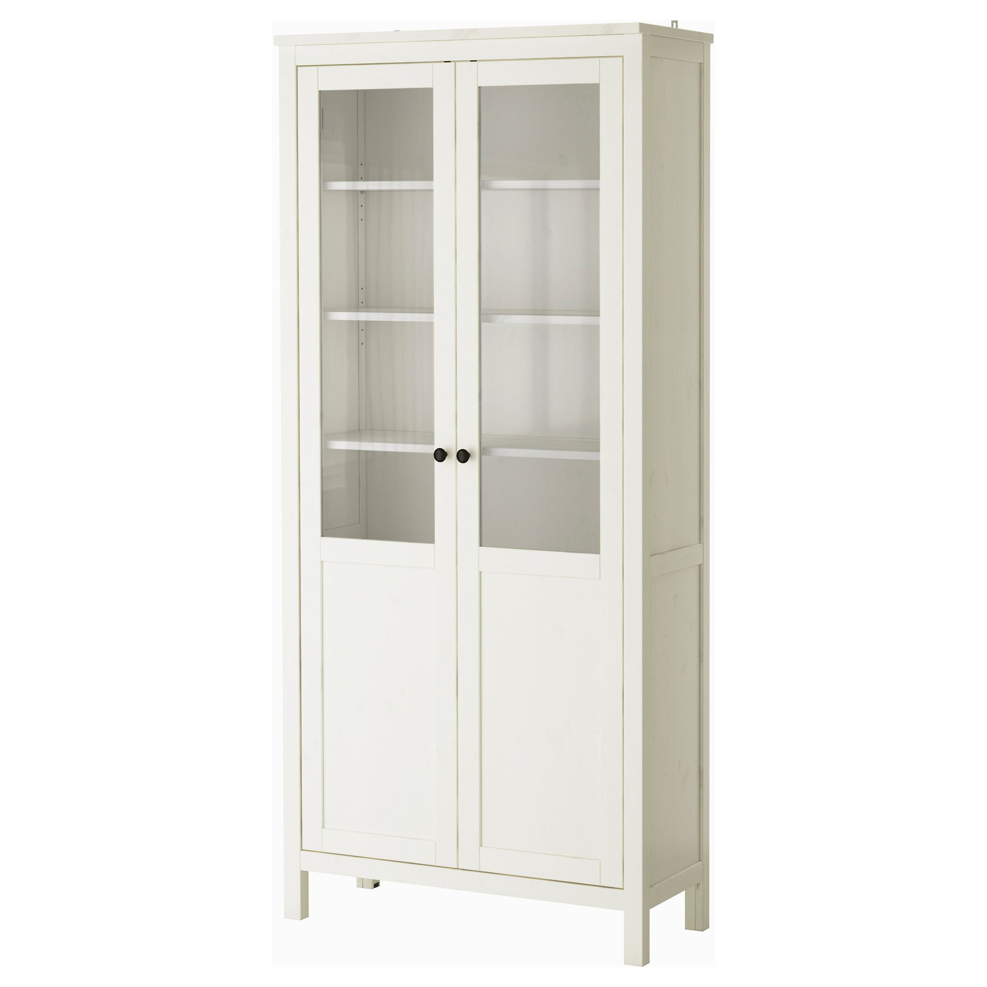 Ikea French Doors: HEMNES Cabinet With Panel/glass Door, White Stain In 2019